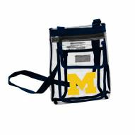 Michigan Wolverines Gameday Clear Crossbody Tote