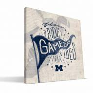 Michigan Wolverines Gameday Vibes Canvas Print