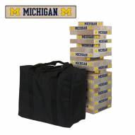 Michigan Wolverines Giant Wooden Tumble Tower Game
