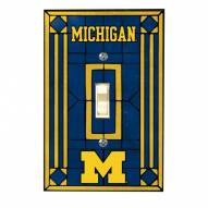 Michigan Wolverines Glass Single Light Switch Plate Cover