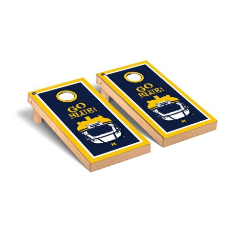 Michigan Wolverines Go Blue Cornhole Game Set