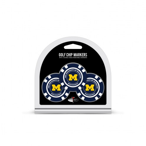 Michigan Wolverines Golf Chip Ball Markers