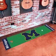 Michigan Wolverines Golf Putting Green Mat