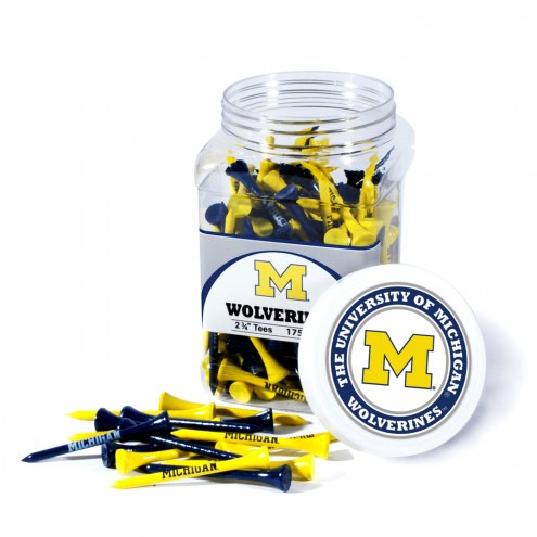 Michigan Wolverines 175 Golf Tee Jar