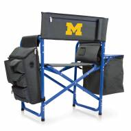 Michigan Wolverines Gray/Blue Fusion Folding Chair