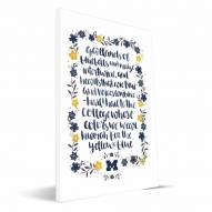 Michigan Wolverines Hand-Painted Song Canvas Print