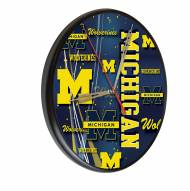 Michigan Wolverines Digitally Printed Wood Clock