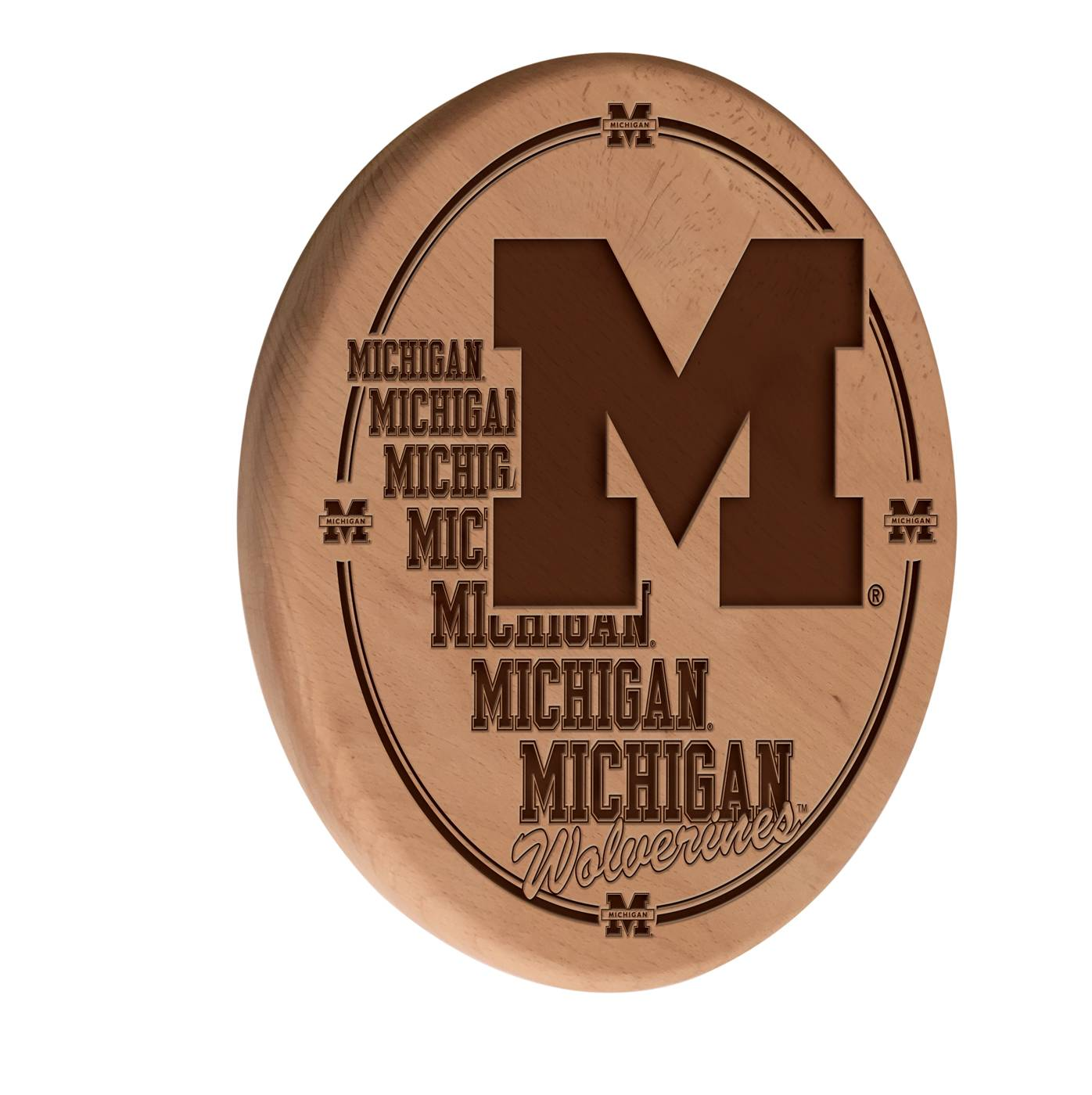Michigan Wolverines Laser Engraved Wood Sign