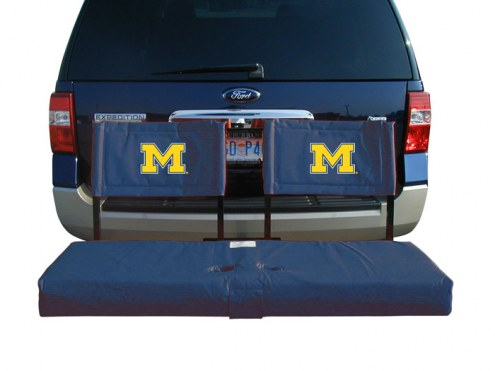 Michigan Wolverines Tailgate Hitch Seat/Cargo Carrier