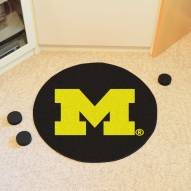 Michigan Wolverines Hockey Puck Mat