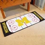 Michigan Wolverines Hockey Rink Runner Mat