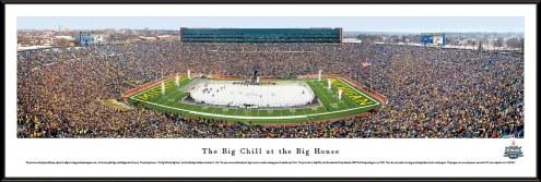 Michigan Wolverines vs. Michigan State Big Chill Standard Framed Panorama