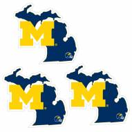 Michigan Wolverines Home State Decal - 3 Pack