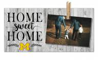 Michigan Wolverines Home Sweet Home Clothespin Frame