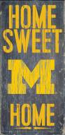 Michigan Wolverines Home Sweet Home Wood Sign
