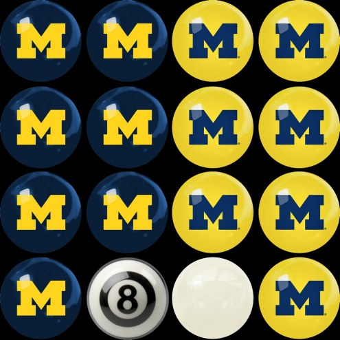 Michigan Wolverines Home vs. Away Pool Ball Set
