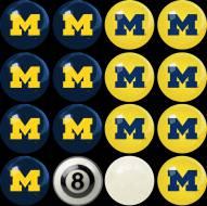 Michigan Wolverines Home vs. Away Pool Ball Set