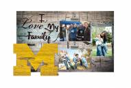 Michigan Wolverines I Love My Family Clip Frame