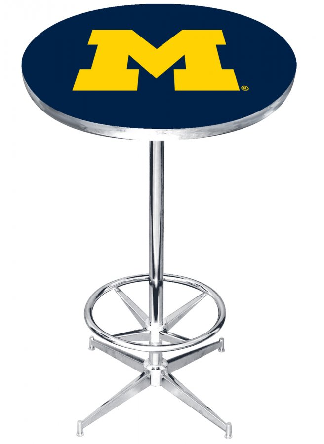 Magnificent Michigan Wolverines College Team Pub Table Gmtry Best Dining Table And Chair Ideas Images Gmtryco
