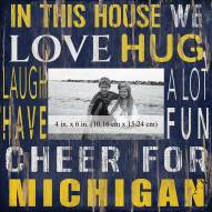 "Michigan Wolverines In This House 10"" x 10"" Picture Frame"