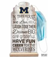 Michigan Wolverines In This House Mask Holder