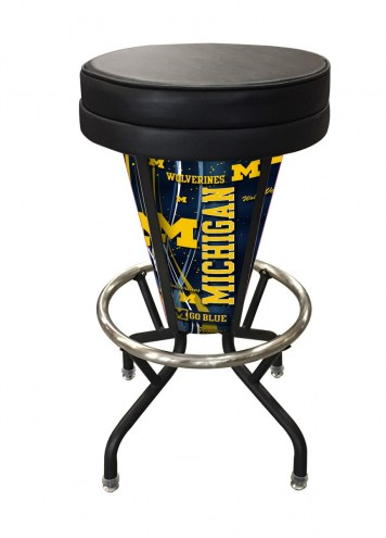 Michigan Wolverines Indoor/Outdoor Lighted Bar Stool