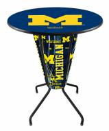 Michigan Wolverines Indoor/Outdoor Lighted Pub Table