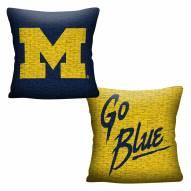 Michigan Wolverines Invert Woven Pillow