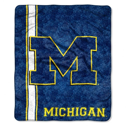 Michigan Wolverines Jersey Sherpa Blanket