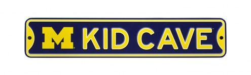 Michigan Wolverines Kid Cave Street Sign
