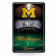 Michigan Wolverines Large Embossed Metal Wall Sign