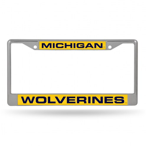 Michigan Wolverines Laser Chrome License Plate Frame