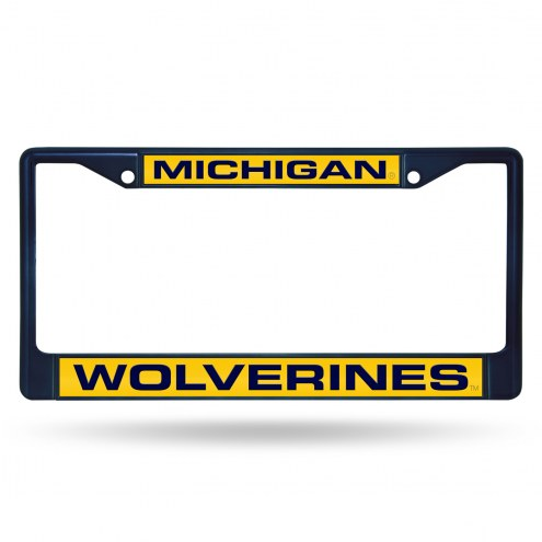 Michigan Wolverines Laser Colored Chrome License Plate Frame