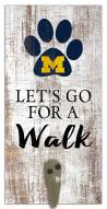 Michigan Wolverines Leash Holder Sign