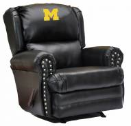 Michigan Wolverines Leather Coach Recliner
