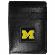 Michigan Wolverines Leather Money Clip/Cardholder