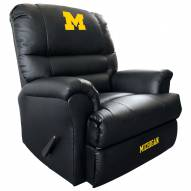 Michigan Wolverines Leather Sports Recliner