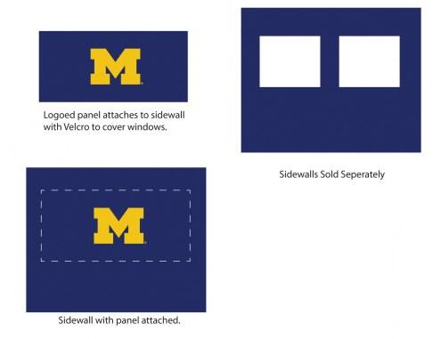 Michigan Wolverines Logo Canopy Sidewall Panel (Attaches to Window Sidewall)