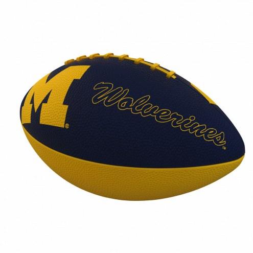 Michigan Wolverines Logo Junior Rubber Football