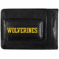 Michigan Wolverines Logo Leather Cash and Cardholder