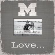 Michigan Wolverines Love Picture Frame