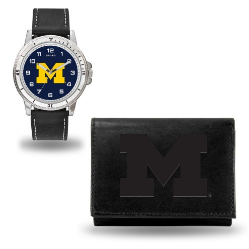 Michigan Wolverines Men's Chicago Watch & Wallet Set