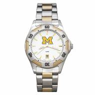 Michigan Wolverines Men's All-Pro Two-Tone Watch