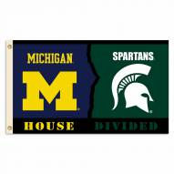 Michigan Wolverines/Michigan State 3' x 5' Flag