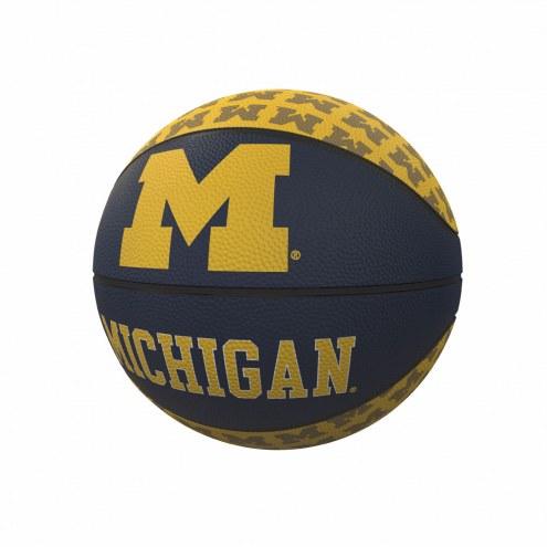 Michigan Wolverines Mini Rubber Basketball