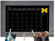 Michigan Wolverines Monthly Chalkboard with Frame