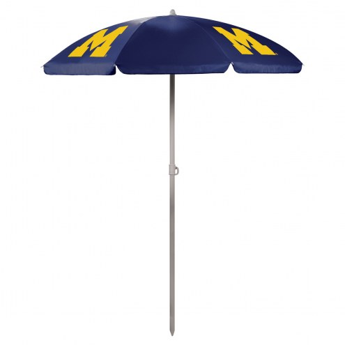 Michigan Wolverines Navy Beach Umbrella
