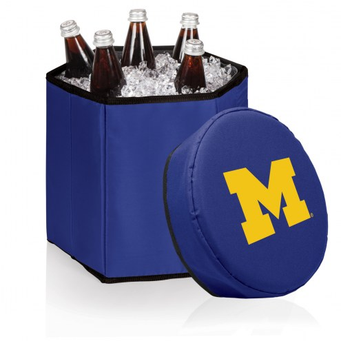 Michigan Wolverines Navy Bongo Cooler