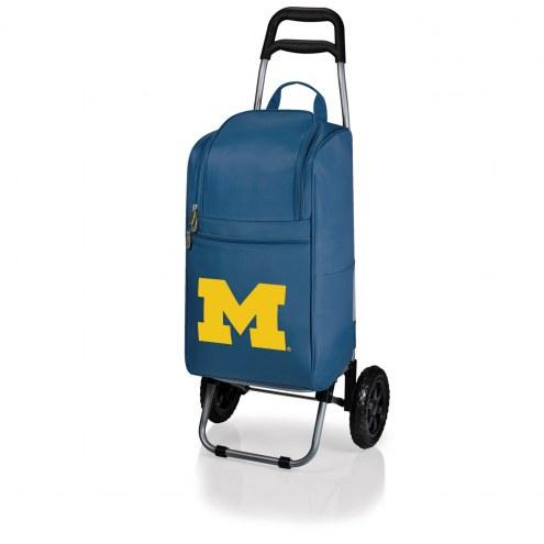 Michigan Wolverines Navy Cart Cooler