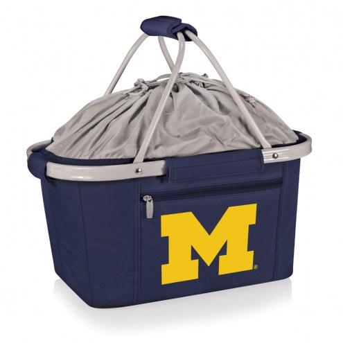 Michigan Wolverines Navy Metro Picnic Basket